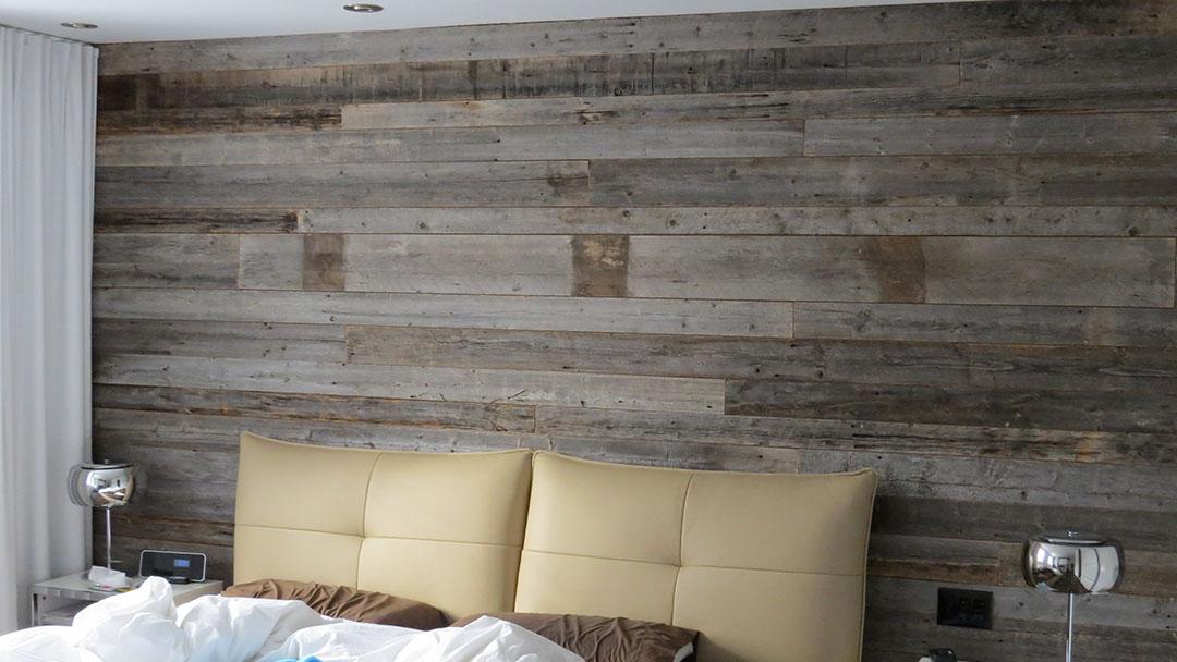 mur de bois de grange